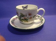 '' WORCESTER HERBS '' GREEN BY ROYAL WORCESTER - CUP & SAUCER