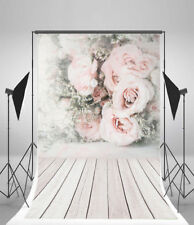 Wedding Rose Flower Photography Props Vinyl 5x7ft Backdrop Background Photo