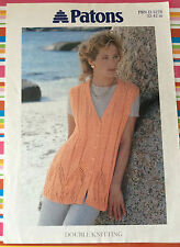 """Lace & Cable Waistcoat Gilet Knitting Pattern - 32-42"""" - DK - Patons 5278 - orig"""