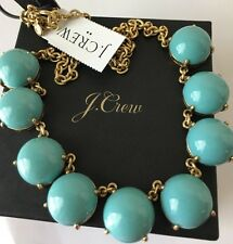 NWT J. Crew Bubble Stone Necklace soft aquamarine & J Crew Bag