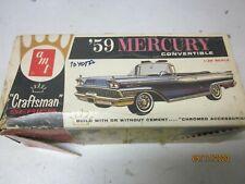 VINTAGE 1 25 MODEL  BOX ONLY 1959 MERURY CRAFTSMAN BOX JUNKYARD PARTS LOT