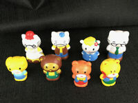 """Sanrio Hello Kitty PVC Figure Toy  2"""" Inch Figurines Characters Lot Of 8"""