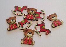 Weihnachten Verzierungen Festive Teddybären & Schaukel Pferde 8-TEILIG