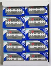 200 DORCO PLATINUM (ST300) BLUE DOUBLE EDGE RAZOR BLADES, (100 x 2 packs) Blades