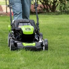 """Greenworks 80V Lithium-Ion 21"""" Self Propelled Mower With Two Batteries and Charg"""
