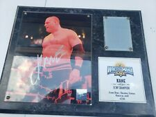 Kane limited Edition Wrestlemania xxiv 24 plaque with signature.