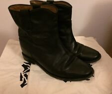 Isabel Marant Etoile 39/US 9 Black Leather CRISI Hidden Wedge Boots Booties