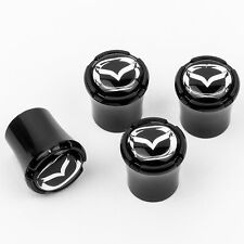 Mazda Logo Black Tire Valve Stem Caps - USA Made Quality