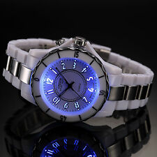 Fashion White LED Light Waterproof Backlight Quartz Men's Sport Army Wrist Watch