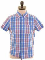 HOLLISTER Mens Shirt Short Sleeve Small Multicoloured Check Cotton  HD21