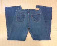 Womens Levis 548 Perfectly Slimming Flare Jeans Size 12 Medium (J-220)