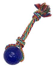 Pet Buddies Rubber Handle Cotton Rope Durable Chewing Tug Toy  - Pooch Tug a Lot