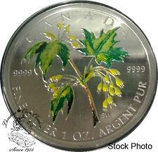 Canada 2003 $5 Green Summer Coloured Silver Maple Leaf Coin
