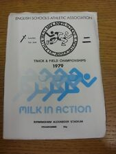 09/06/1979 Athletics Programme: West Midlands Schools - Annual Track & Field Cha