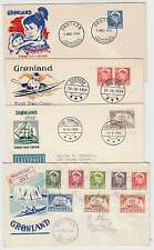 C4558: Greenland #28-38 on (4) First Day Covers