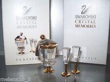 Swarovski Memories Crystal Moments Sparkling Wine Cooler With 2 Flutes 191586
