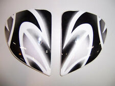 Arai Helmets RX-7 RR4 Side Pods Shield Covers Holders EDWARDS 4 BLACK / SILVER