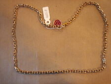 CHAINE PLAQUE OR MAILLE LARGE LONG 56 CM 22G VINTAGE NEUF/NEW GOLD PLATED CHAIN
