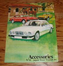 Original 1977 ? Jaguar Rover MG Triumph Accessories Foldout Sales Brochure