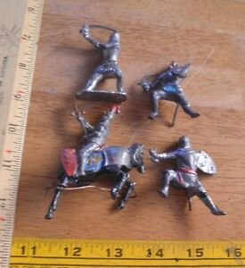 Lead soldiers England Cherilea Lot of 4 A33 NO RESERVE VINTAGE