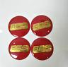 4Pc BBS Car Wheel Center Cap Emblem Badge Stickers Red/Gold/Silver 56/60/65/70mm