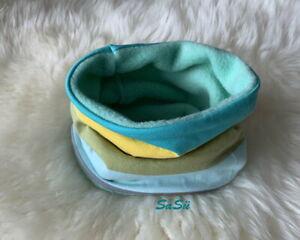 Schlupfschal ♥ Loop ♥ Halssocke ♥ Baby ♥ Handmade ♥ Fleece ♥ Streifen ♥ Bunt