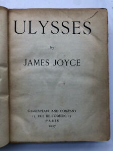 Ulysses by James Joyce 9th Printing May 1927, Shakespeare & Co