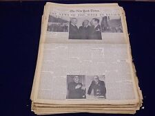 1946 NY TIMES NEWSPAPER NEWS OF THE WEEK IN REVIEW LOT OF 79 HEADLINES - NTL 14
