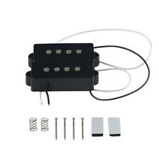 FLEOR Open Type Alnico 5 Humbucker PB Bass Pickup Set for 4 Strings P Bass Black