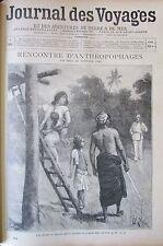 JOURNAL DES VOYAGES 904 de 1894 MALAISIE ANTHROPOPHAGES AEROSTAT VOYAGE BALLON