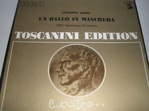 Toscanini Edition Verdi Un Ballo In Maschera NBC Symphony Orchestra 3-Disc Set