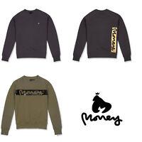 Money Clothing Mens Designer Crew Neck Sweatshirt Graphic Fleece Sweater Jumper