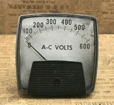 Ge General Electric A C Volts Panel Meter 0 600