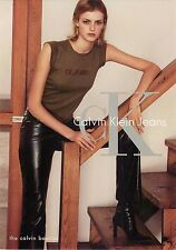 Calvin Klein Jeans Woman Model on Stairs Advertisement Postcard 6x4""