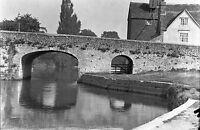 1910s ABINGDON #4 The Bridge Antique Photographic Glass Negative (Oxfordshire)