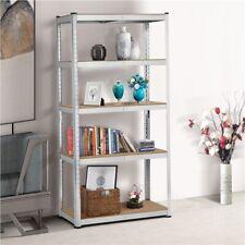5 Tier Adjustable Storage Rack Utility Storage Shelves Metal Shelving Units 71h