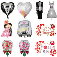 Heart /Bride/Groom Designs Foil Helium Balloon Wedding Day Party Decoration