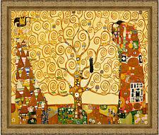 The Tree of Life by Gustav Klimt 85cm x 72cm Framed Ornate Gold