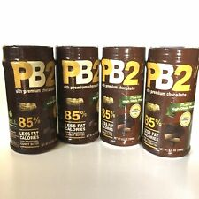 Lot of 4! PB2 Powdered Peanut Butter with Premium Chocolate, 6.5 oz —SHIPS FAST!