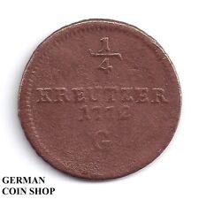 1/4 Kreuzer 1772 G Günzburg Burgau Maria Theresia - RDR, Österreich, Austria