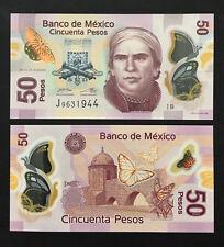 Mexico 50 Pesos (2012) P123 Polymer banknote UNC