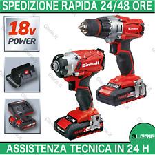 Trapano avvitatore 2 batterie set kit impulsi EINHELL TE-TK 18 4257210 4257232