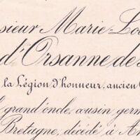 Marie Louis Aimé D'Orsanne De Montlevic Angers 1889