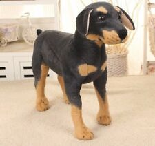 Large Rottweiler Standing Lifelike Stuffed Animal Dog Plush Toy 60 cm UK