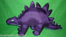 PURPLE STEGOSAURUS Nylon Puffalumps Plush 1987 Potpourri Press Stuffed Dinosaur