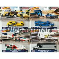 Hot Wheels 1:64 Team Transport 2020 FLF56-956H Set of 4 Diecast Car Ford Benz VW