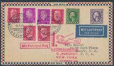 Katapultflug Dampfer Europa 15.9.1930 Seepost Ländermischfrankatur (S18517)