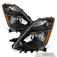 For 2006-2009 Toyota Prius Halogen Type Black Headlights Headlamps Left+Right