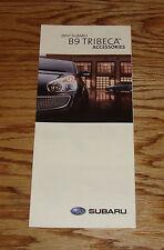 Original 2007 Subaru B9 Tribeca Accessories Foldout Sales Brochure 07
