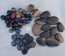 Vintage tribal coir wood beads chunky large big pear tear drop crafts jewellery